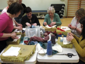 Felting at the Western Infirmary